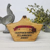 St Lawrence Rustic Egg Basket Vintage Wooden Crate Jersey Farm Fresh Eggs Box